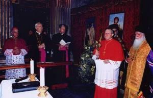 Mons. Rino Fisichella em encontro ecumênico