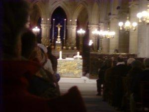 O altar.