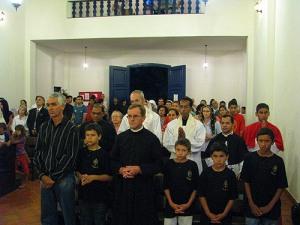 Consagração da Capela Santa Maria das Vitórias.