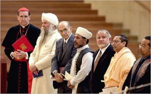 Cardeal Mahony e membros de outras religiões.