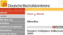 Site da Conferência Episcopal Alemã