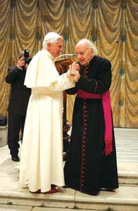 Mons. Bartolucci e Bento XVI
