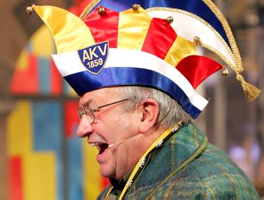 Cardeal Lehmann no carnaval de Mainz