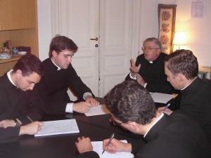 Mons. Guido Pozzo em visita ao IBP-Roma.
