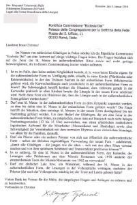 Perguntas remetidas à Comissão Ecclesia Dei - clique para ampliar