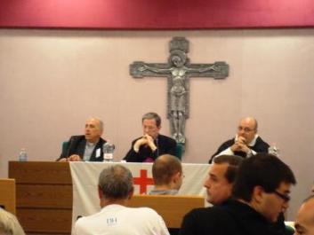 Pe. Nicola Bux discursa em congresso sobre o motu proprio Summorum  Pontificum em Roma.
