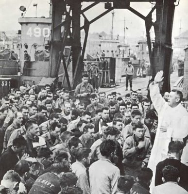 Missa antes do desembarque da Normandia
