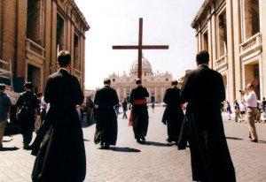 Peregrinação da Fraternidade São Pio X a Roma para o Jubileu do ano 2000.