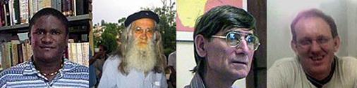 Da esquerda para a direita: Frei Paulo Sérgio Cantanheide Ferreira, pároco; Fr. Marcos Lacerda de Camargo, superior de residência; Fr. Domingos dos Santos; Fr. Casemiro Witasiak, vigário paroquial.
