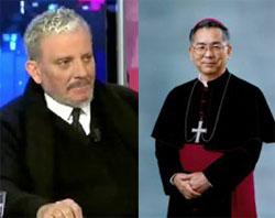 O co-fundador do Neocatecumenato, Kiko Arguello, e o Arcebispo Mitsuaki Takami.