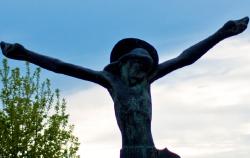 Figura de Cristo em Medjugorje.
