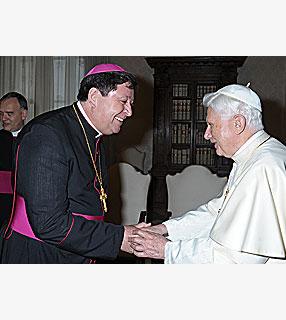 Dom João Braz de Aviz e o Papa Bento XVI.
