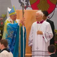 Archbishop Piero Marini in one of his last presepadas the pontificate of Benedict XVI.