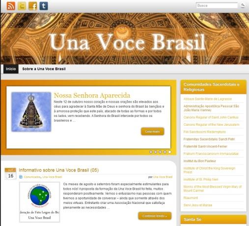 A Una Voce Brasil acaba de lançar o seu blog. Clique para visitá-lo.