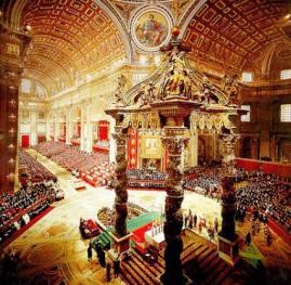 Missa de abertura do Concílio Vaticano II.