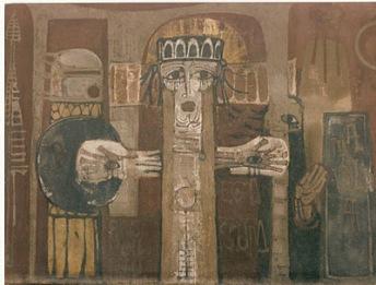 "Cristo Rei - ""obra de arte"" de 1960 de Kiko Argüello, fundador do Caminho Neocatecumenal."