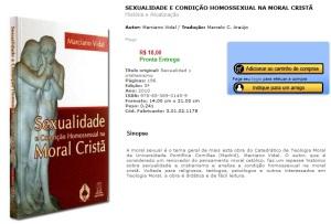 O livro de Marciano Vidal, à venda na loja virtual da Editora Santuário.