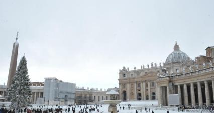 Fevereiro de 2012: inverno gelado no Vaticano.