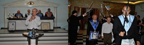 10 de abril de 2012: Dom Demétrio Valentini discursa em loja maçônica na cidade de Jales, SP.