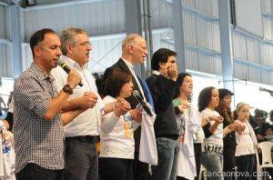 Domingo, 22 de julho de 2012: Gabriel Chalita e o ministro da Saúde do governo Dilma, Alexandre Padilha, na Canção Nova.