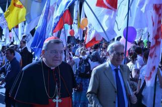 Roberto de Mattei e o Cardeal Burke.
