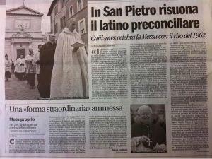Matéria do jornal Avvenire, da Conferência Episcopal Italiana, sobre a peregrinação. Clique para ampliar.