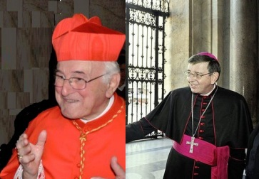 Cardeal Brandmüller (à esquerda) e Cardeal Koch (à direita).