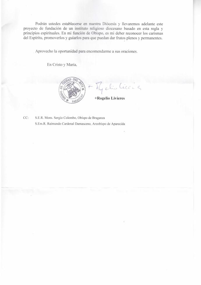 Carta de Dom Rogélio 2