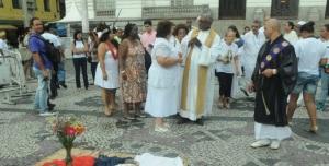 Religiosos comemoram dia contra a intolerância religiosa no Rio de Janeiro.