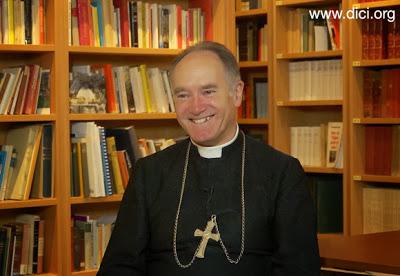 Mons. Fellay, Superior da Fraternidade Sacerdotal São Pio X, em entrevista ao portal DICI (novembro de 2013).