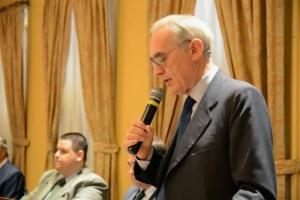 Professor Roberto de Mattei no Rio de Janeiro: evento contou com cerca de 200 assistentes.