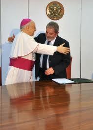 Dom Lorenzo Baldisseri e Lula