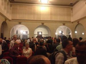 Cerca de 250 pessoas assistiram à conferëncia de Dom Athanasius em São Paulo.