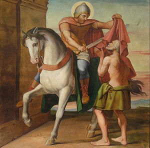 A caridade de São Martinho de Louis Anselme Longa.
