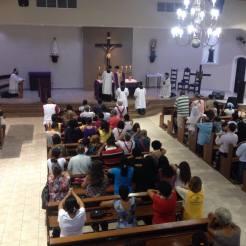 Santa Missa em Embu das Artes - 7 de março de 2015.