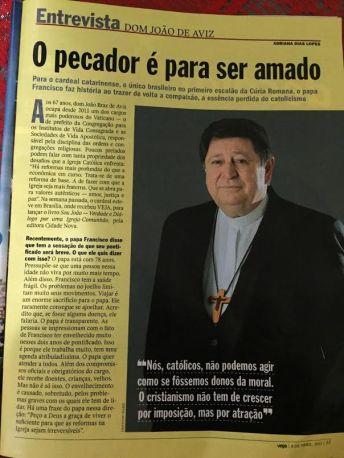 Entrevista de Dom João Braz de Avis à Veja.