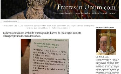 """O Estado de São Paulo: """"Blog católico qualificou o texto como 'escandaloso'""""."""