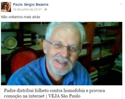 Reprodução: facebook do Padre Paulo Sérgio Bezerra.