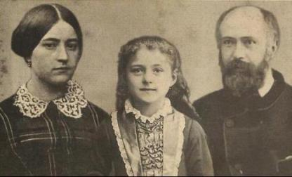 Santa Teresinha e seus pais.