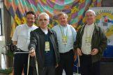 Da esquerda para direita: Dom Leomar Brustolin (bispo auxiliar de Porto Alegre), Dom Alessandro Ruffinoni (bispo de Caxias do Sul), Dom Jaime Pedro Kohl (bispo de Osório) e Dom Remídio José Bohn (Secretário da CNBB Regional Sul 3 e bispo de Cachoeira do Sul)