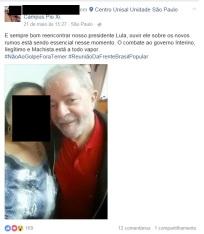 21 de maio de 2016: Unisal Pio XI abriga encontro conspiratório de Lula e movimentos sociais.