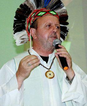 Dom Roque Paloschi, atual presidente do CIMI, durante a 54ª Assembleia Geral da CNBB, Aparecida. Foto: Augusta Eulália Ferreira
