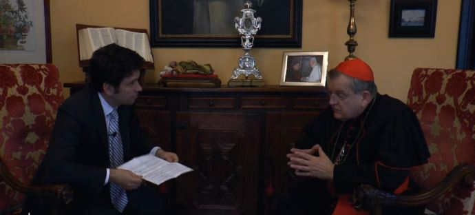 Resultado de imagem para O cardeal tradicionalista Raymond Burke lança livro no Brasil