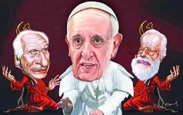 Pannella Bergoglio Scalfari